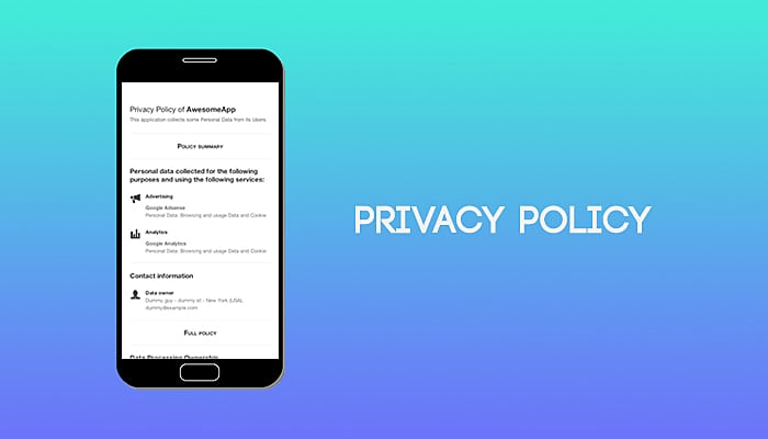 Invasion privacy policy