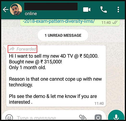 Whatsapp spam messages
