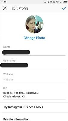 Instagram profile pic