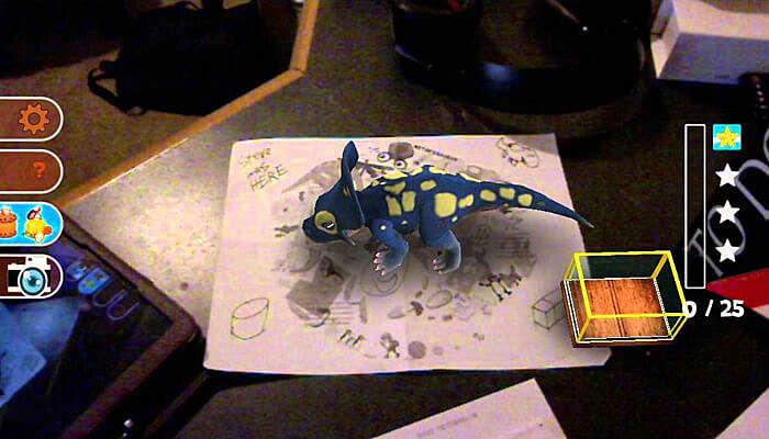 Dino on My Desk AR
