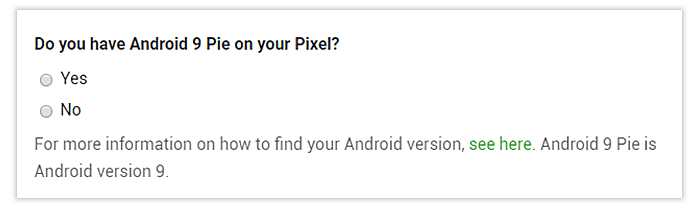 Android 9 Pie on your Pixel