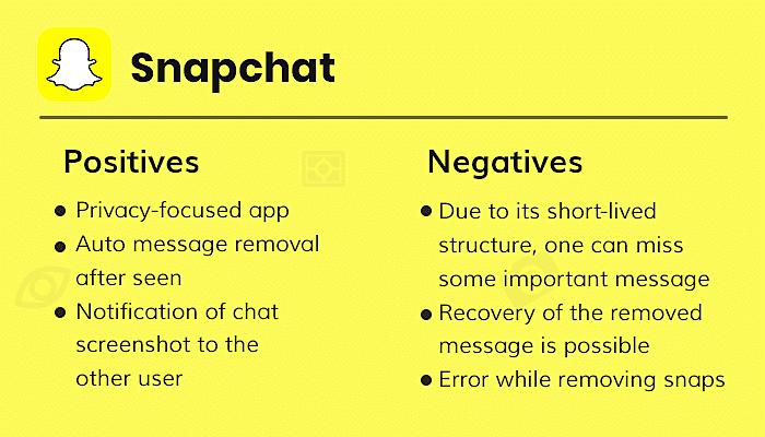 Snapchat Positive Negative