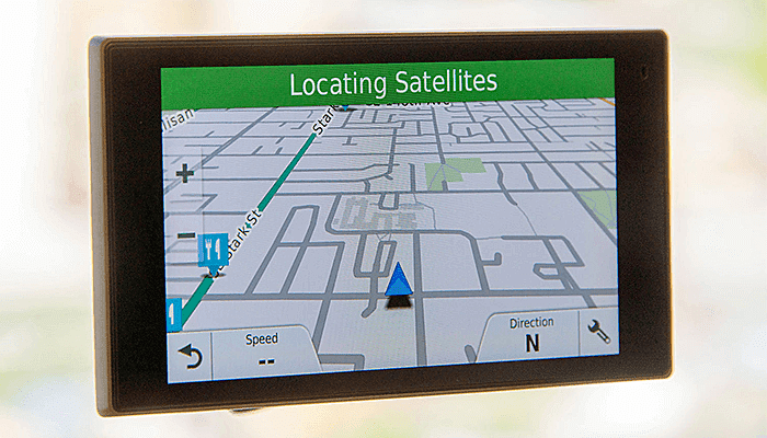 if the GPS device is not able to pinpoint the current location?