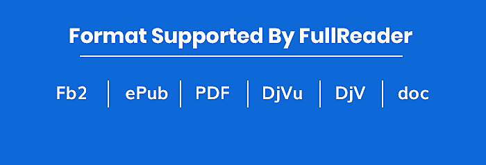 Format Supported By FullReader