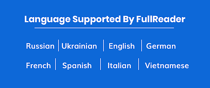 Language Supported By FullReader