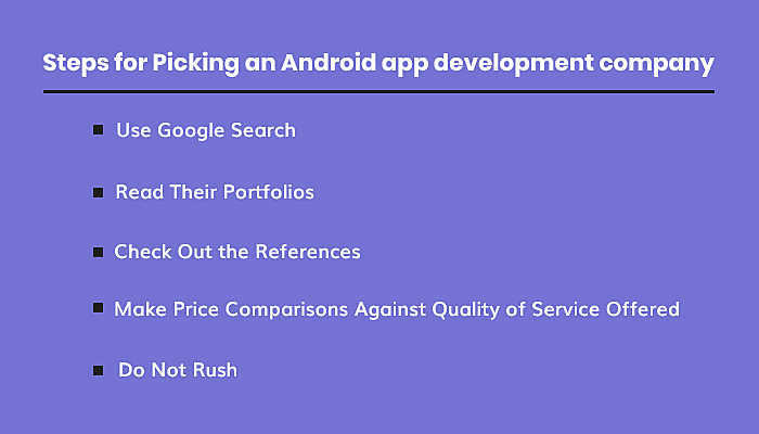 the best android app development company:
