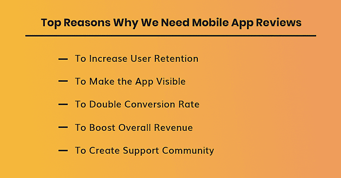 reasons why we need mobile app reviews