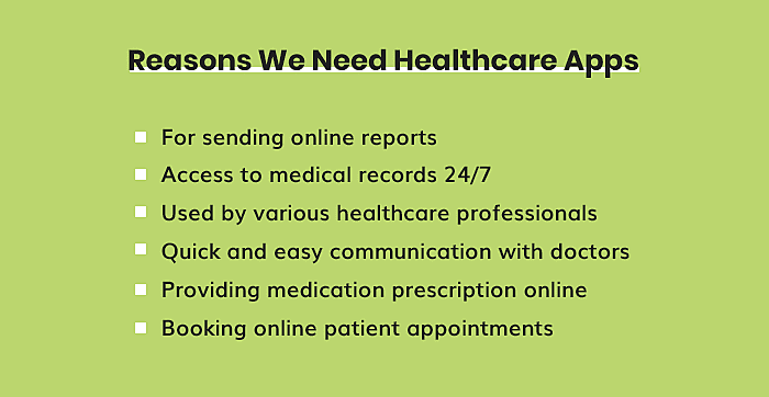 Reasons We Need Healthcare Apps