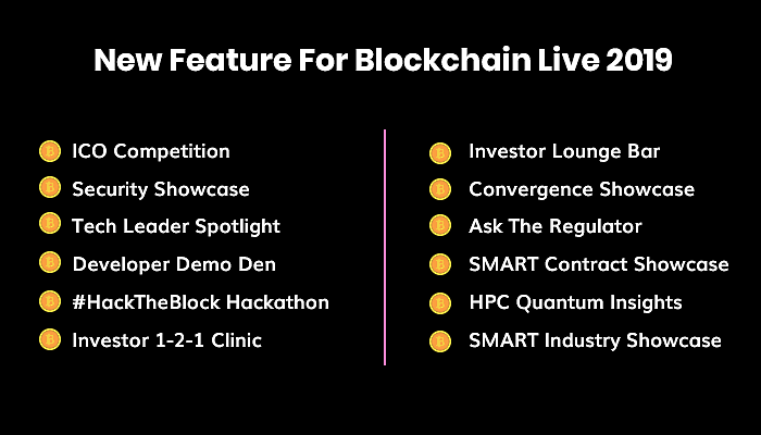 Features for Blockchain Live 2019