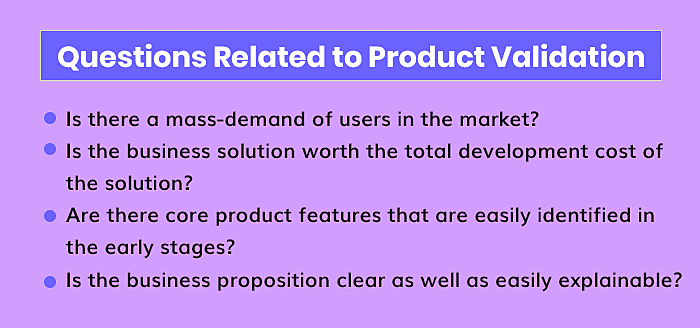 Questions Related to Product Validation
