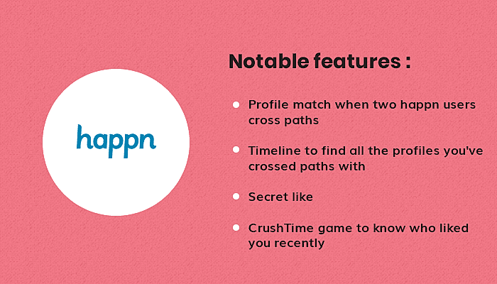 features of Happn app