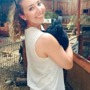 Animal obsessed student studying animal and vet bioscience