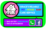 Grace's Reliable Pet Care Service