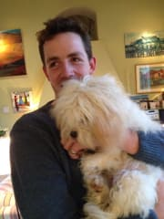 English couple in Bondi, missing their family dogs