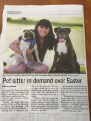 Perth born Pet Carer Animal lover