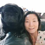 Very caring animal lover with a pug