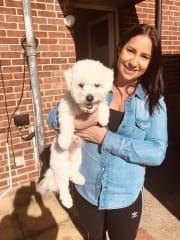 Puppy loving pet sitter Pagen