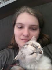 Love animals! My cat, Fuzzles is my life!