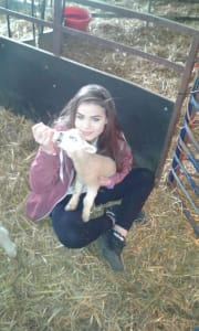 young female, avid animal lover