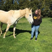 Animal lover, keen horsewoman, currently studying Veterinary Nursing and an aspiring Veterinarian.