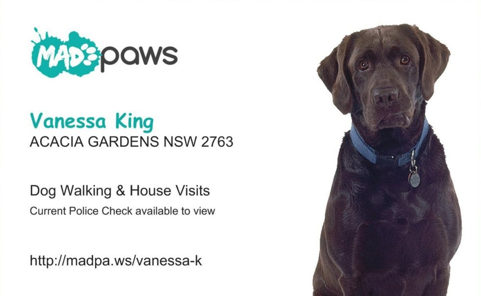 Vanessa K  - Pet Sitter in ACACIA GARDENS NSW - Mad Paws