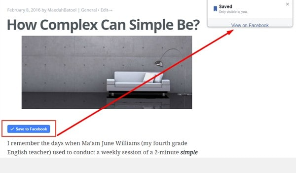 FB Save Button for WP Plugin review