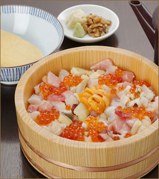 "Marinated fresh-water eel rice bowl where you can enjoy changing taste. ""Uogashisenryo"""
