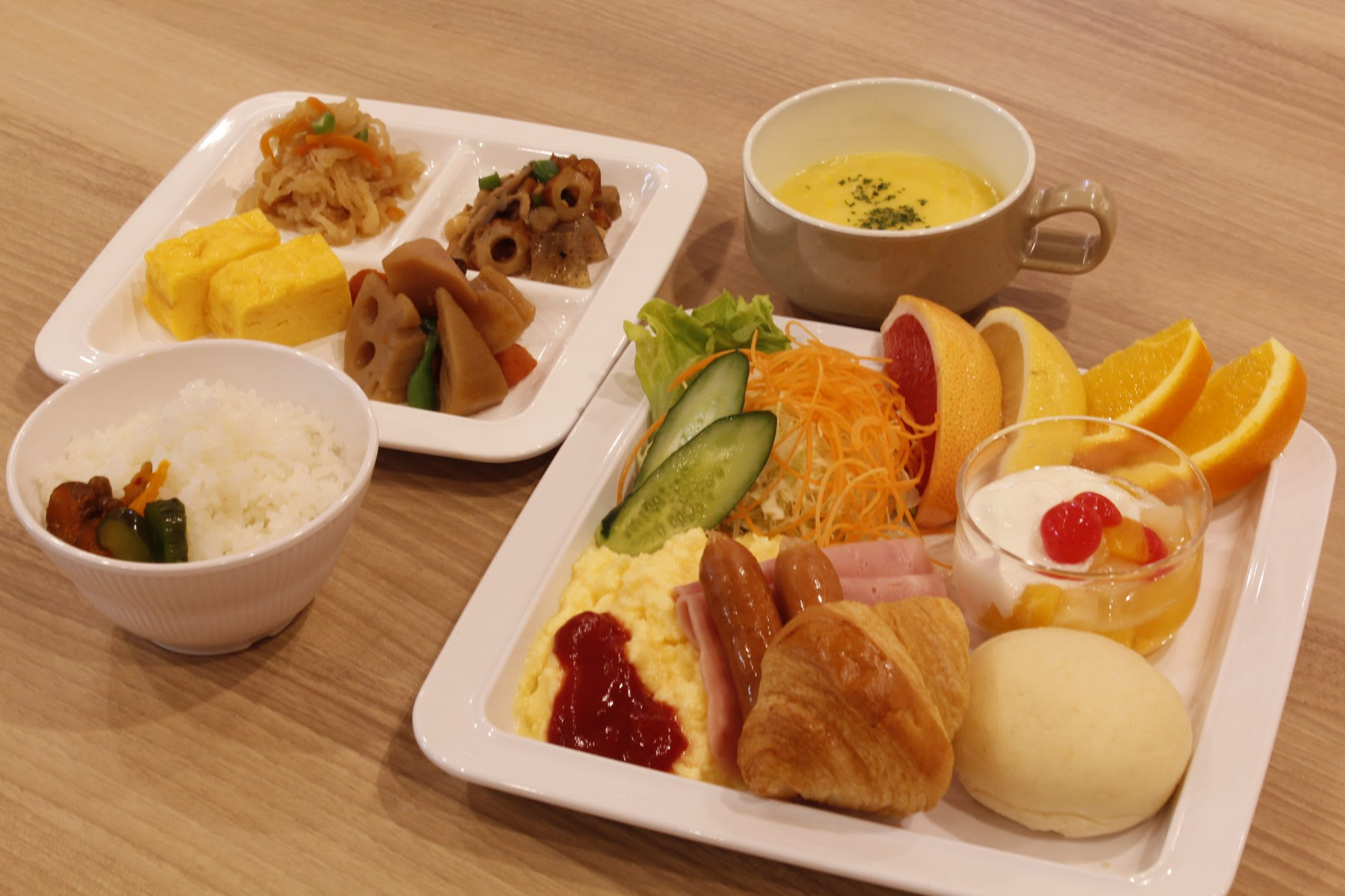 Complementary Breakfast at Via Inn Higashi Ginza