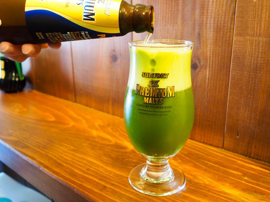 Cheers With Maccha Draft Beer!
