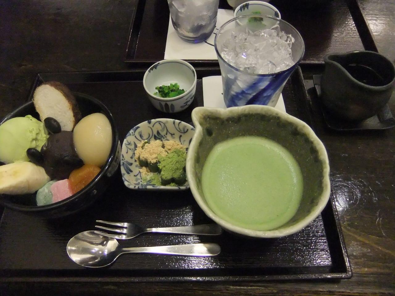 Maccha Anmitsu From Genuine Maccha Cafe