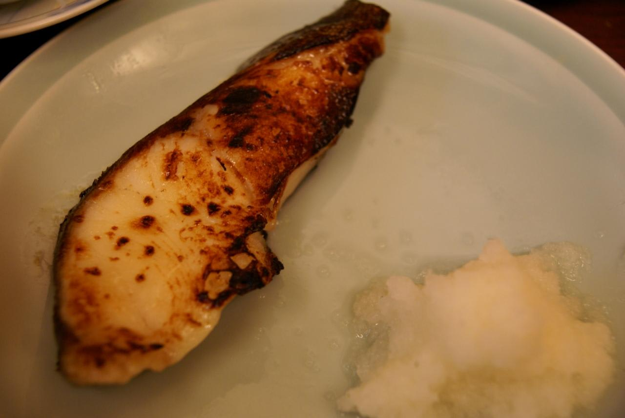 Fish dishes such as grilled sablefish marinated with miso paste set menu