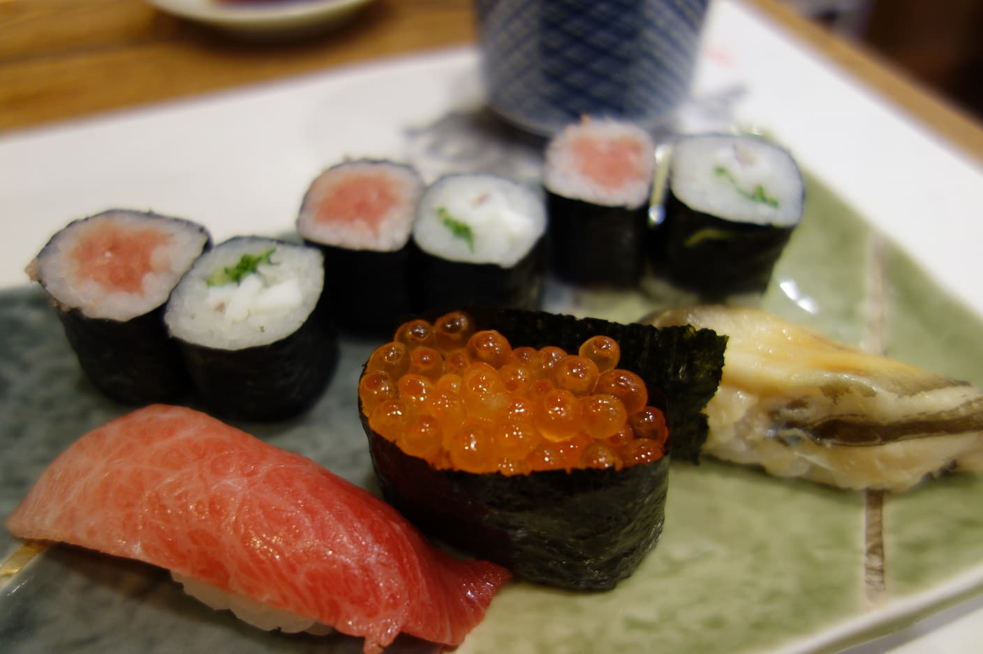 We can have the highest grade of Edomae Sushi with exceptional price - Sushi-Dai.