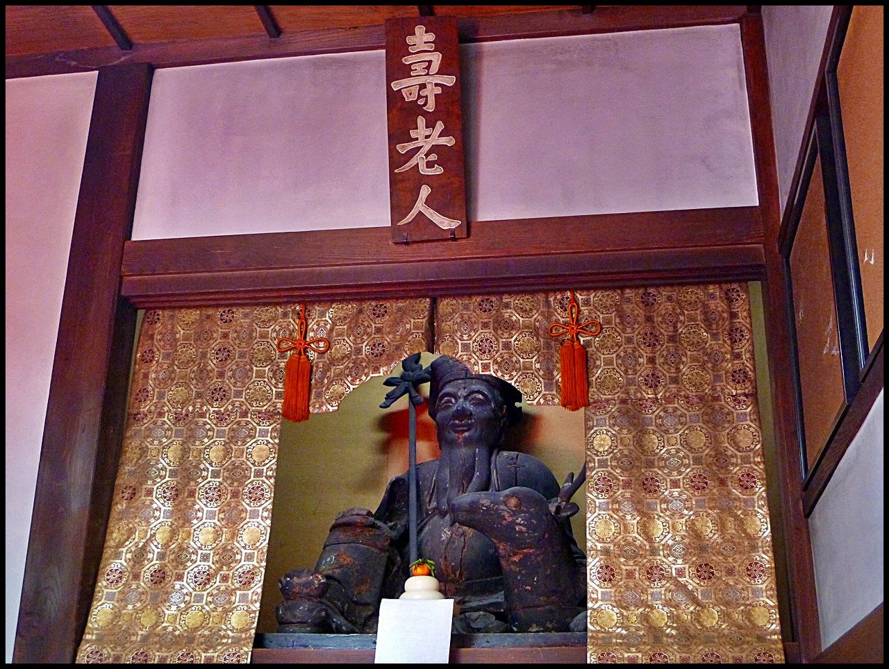 """Shichifukujin"" at ""Choanji"" Temple is a deity for long life! Make a wish for your health."