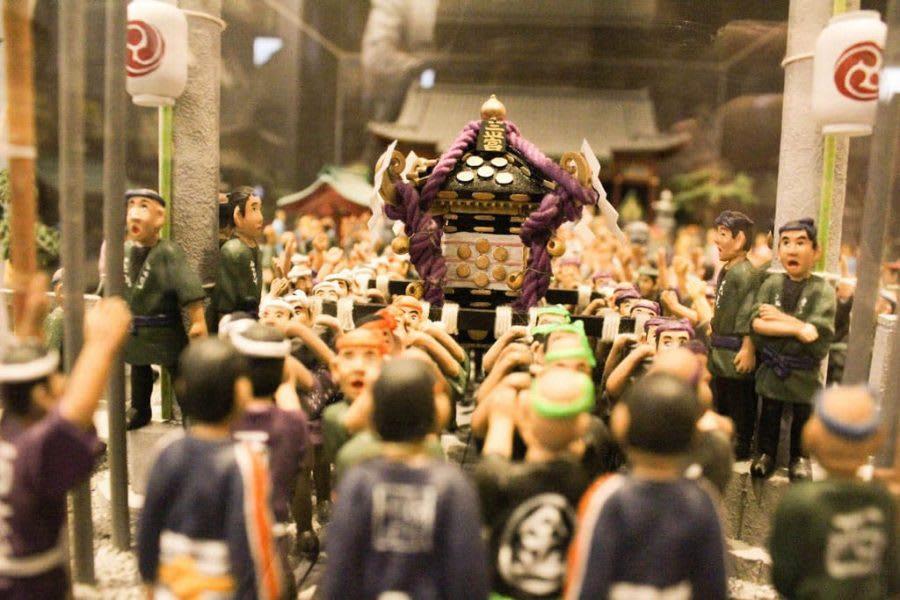 A Miniature of Sanja-matsuri Festiva, the Biggiest Event in Asakusa