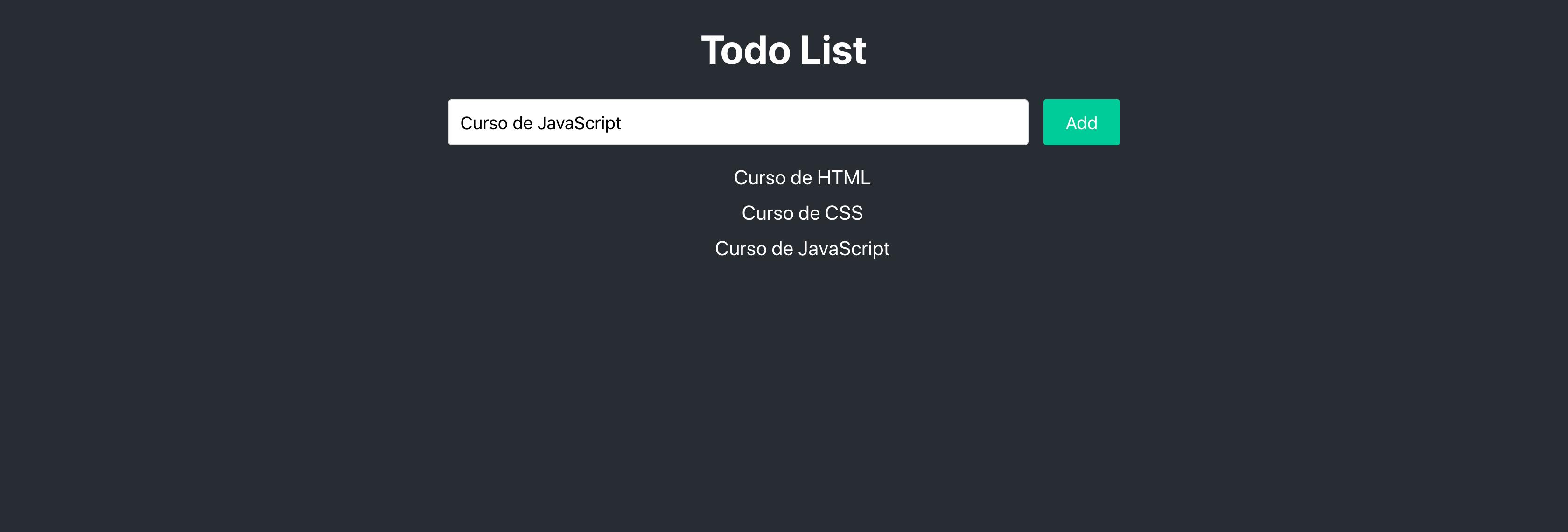 Lista de tarefas com tarefas