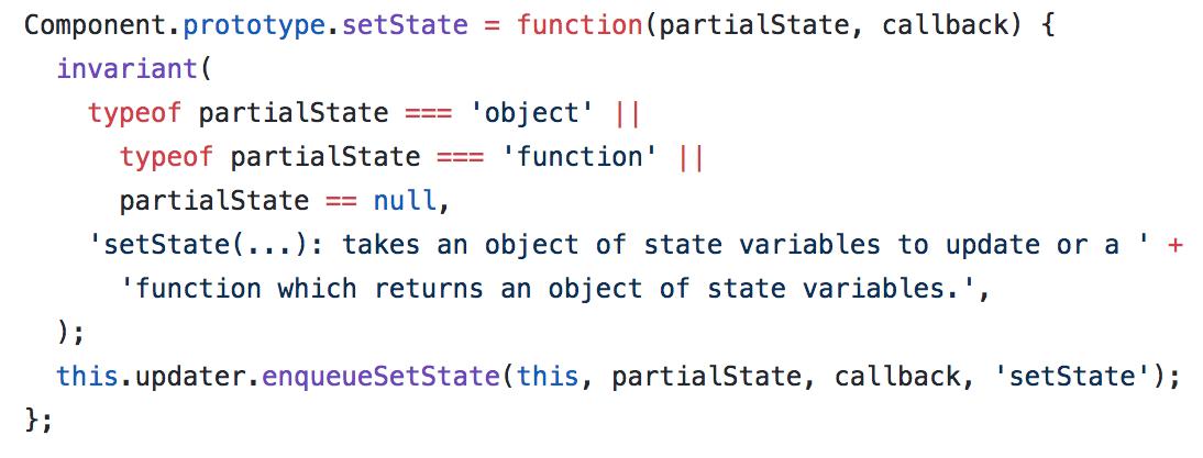 Função setState original do React