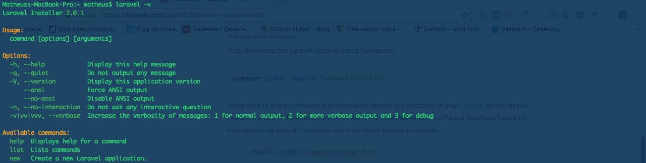 Verificando a versão do Laravel instalada