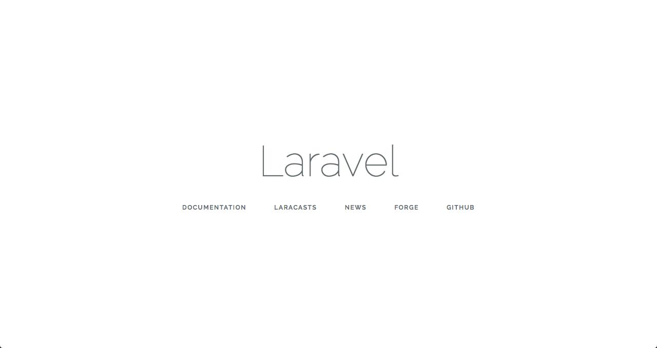 Site padrão criado pelo Laravel