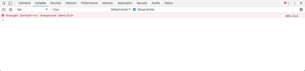 Testando módulo app sem com type padrão