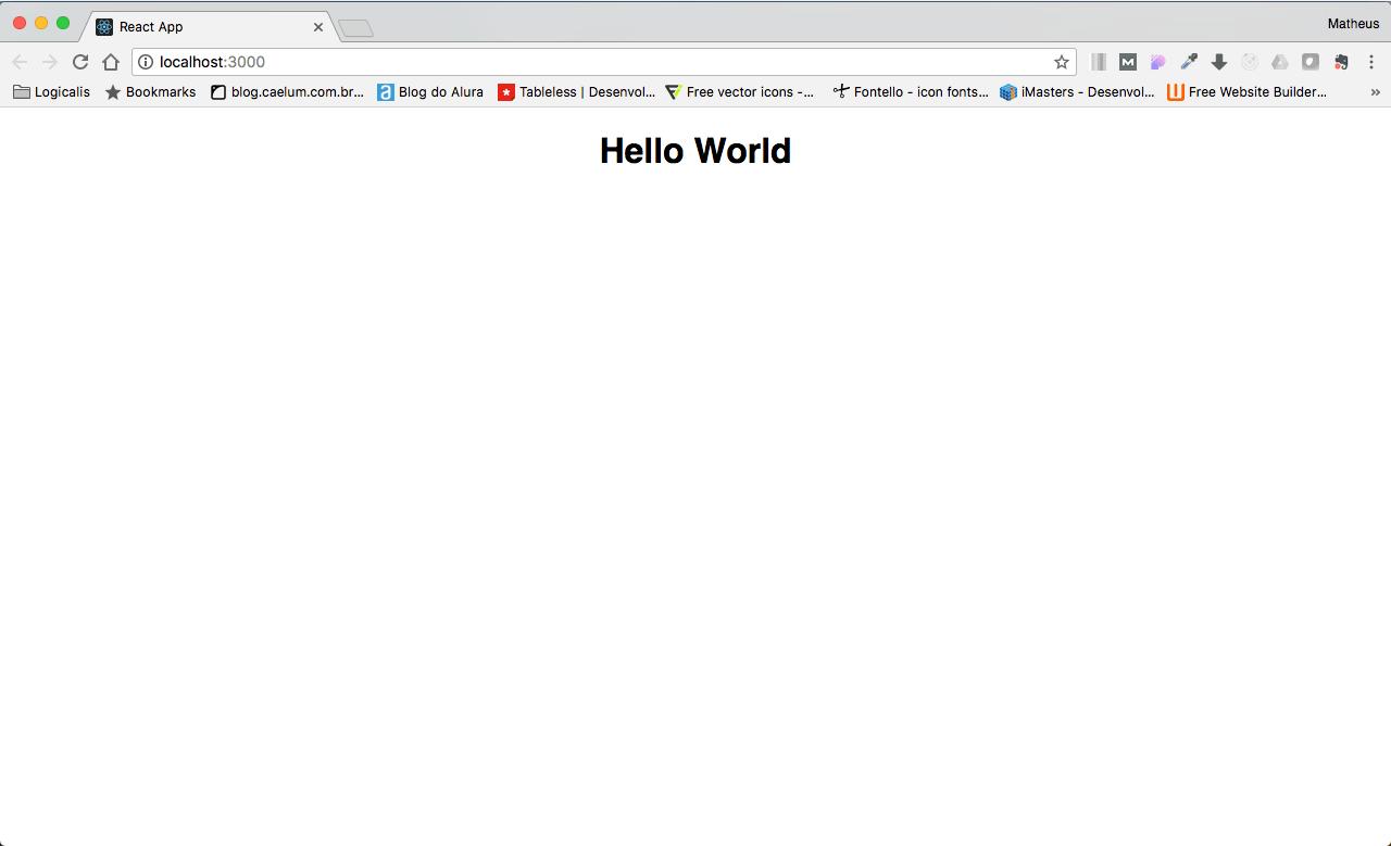 Hello World com React