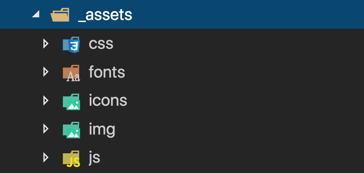 Estrutura da pasta _assets