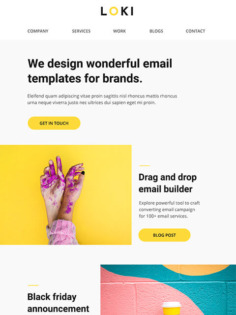Multipurpose email newsletter templates for MailChimp