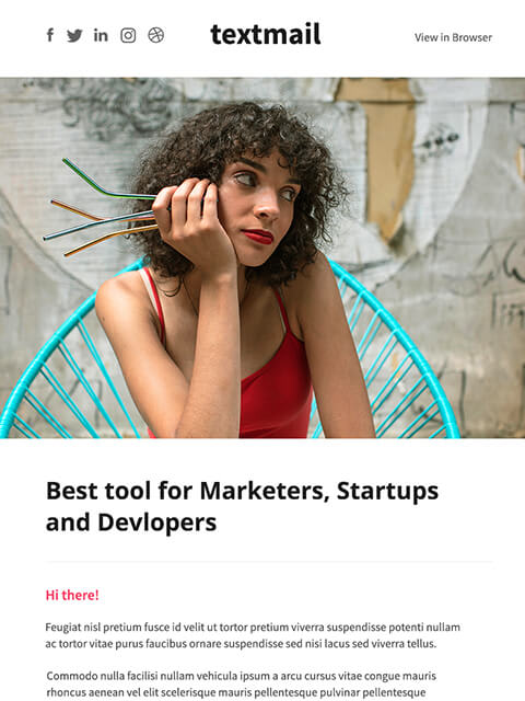 Multipurpose newsletter templates for marketers