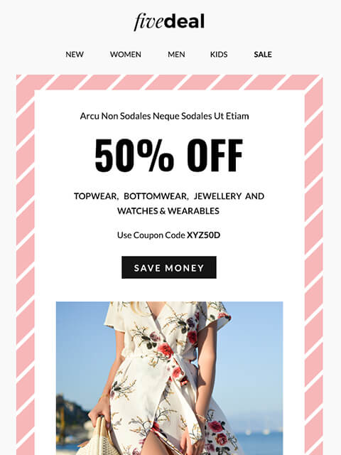 Ecommerce email templates HTML MailChimp