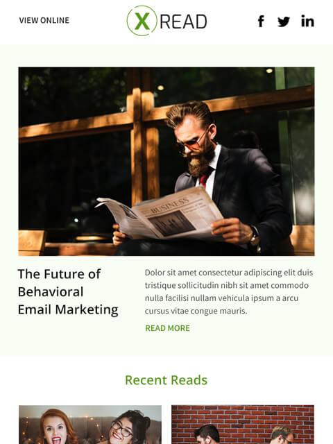 Blogging email templates newsletter for marketing
