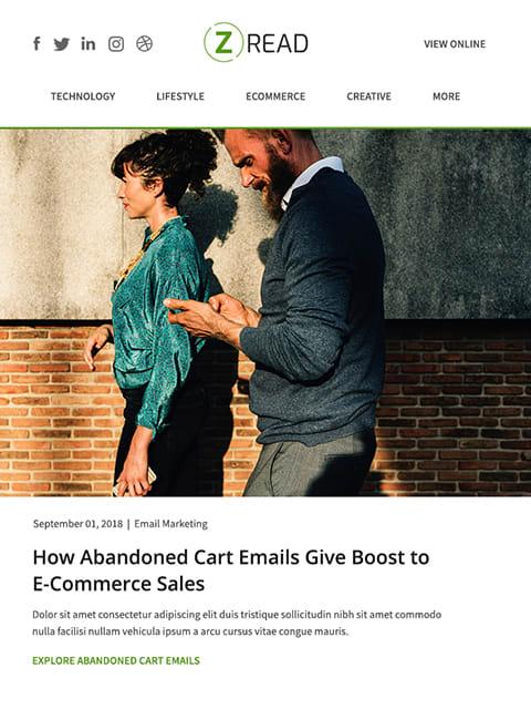 Multipurpose blogging email newsletter templates