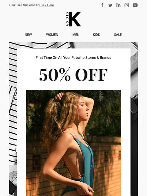 Fashion and lifestyle ecommerce email marketing template