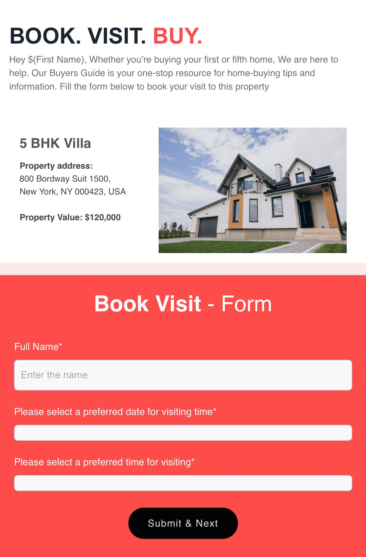 AMP email for real estate industry