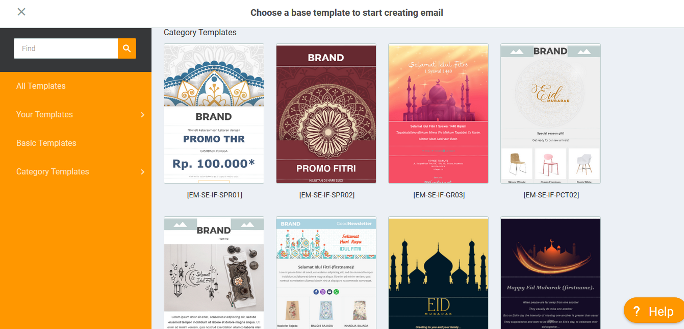 template email idul fitri