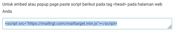 Script pertama di modal share